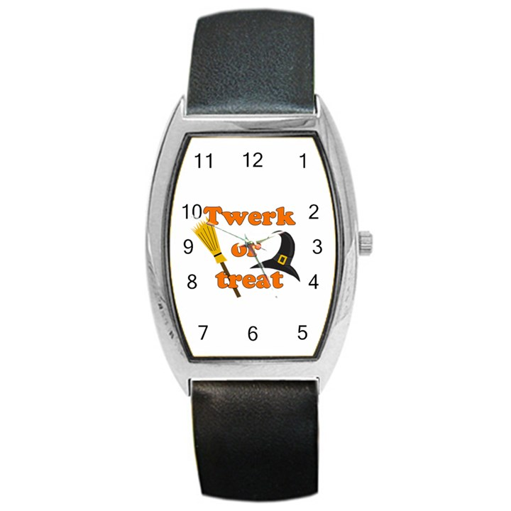 Twerk or treat - Funny Halloween design Barrel Style Metal Watch