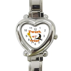 Twerk Or Treat   Funny Halloween Design Heart Italian Charm Watch by Valentinaart