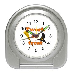 Twerk Or Treat   Funny Halloween Design Travel Alarm Clocks by Valentinaart