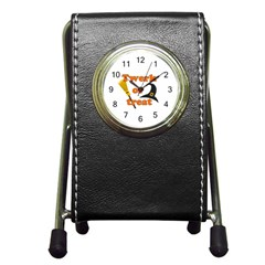 Twerk Or Treat   Funny Halloween Design Pen Holder Desk Clocks