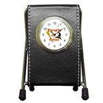 Twerk or treat - Funny Halloween design Pen Holder Desk Clocks Front