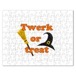 Twerk or treat - Funny Halloween design Rectangular Jigsaw Puzzl