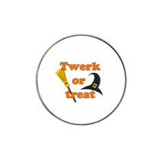Twerk Or Treat   Funny Halloween Design Hat Clip Ball Marker (10 Pack) by Valentinaart
