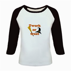 Twerk Or Treat   Funny Halloween Design Kids Baseball Jerseys
