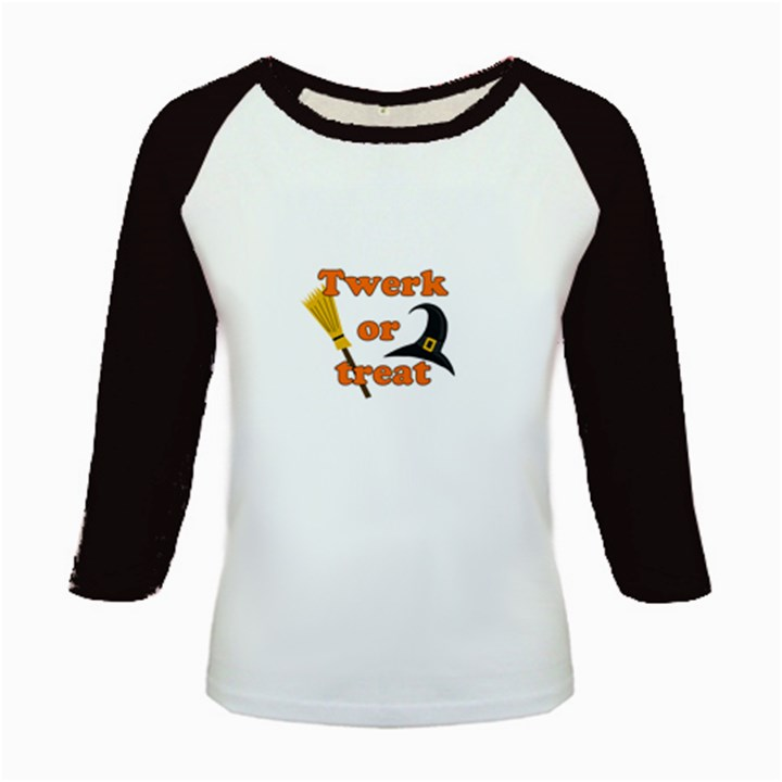 Twerk or treat - Funny Halloween design Kids Baseball Jerseys
