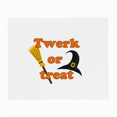 Twerk Or Treat   Funny Halloween Design Small Glasses Cloth by Valentinaart