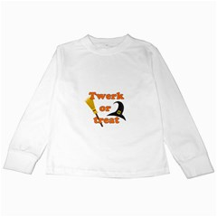 Twerk Or Treat   Funny Halloween Design Kids Long Sleeve T Shirts