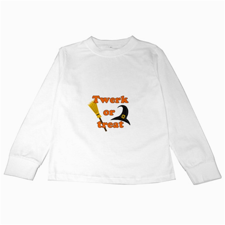 Twerk or treat - Funny Halloween design Kids Long Sleeve T-Shirts