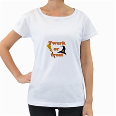 Twerk Or Treat   Funny Halloween Design Women s Loose Fit T Shirt (white)