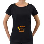 Twerk or treat - Funny Halloween design Women s Loose-Fit T-Shirt (Black)
