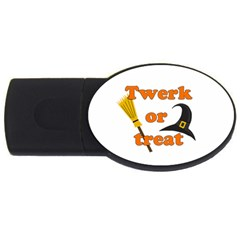 Twerk Or Treat   Funny Halloween Design Usb Flash Drive Oval (4 Gb)