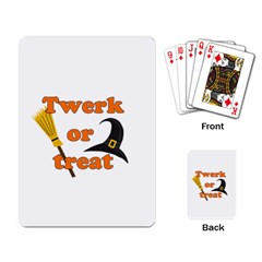 Twerk Or Treat   Funny Halloween Design Playing Card by Valentinaart