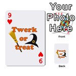 Twerk or treat - Funny Halloween design Playing Cards 54 Designs  Front - Heart9