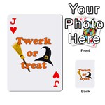 Twerk or treat - Funny Halloween design Playing Cards 54 Designs  Front - HeartJ