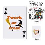 Twerk or treat - Funny Halloween design Playing Cards 54 Designs  Front - Club4