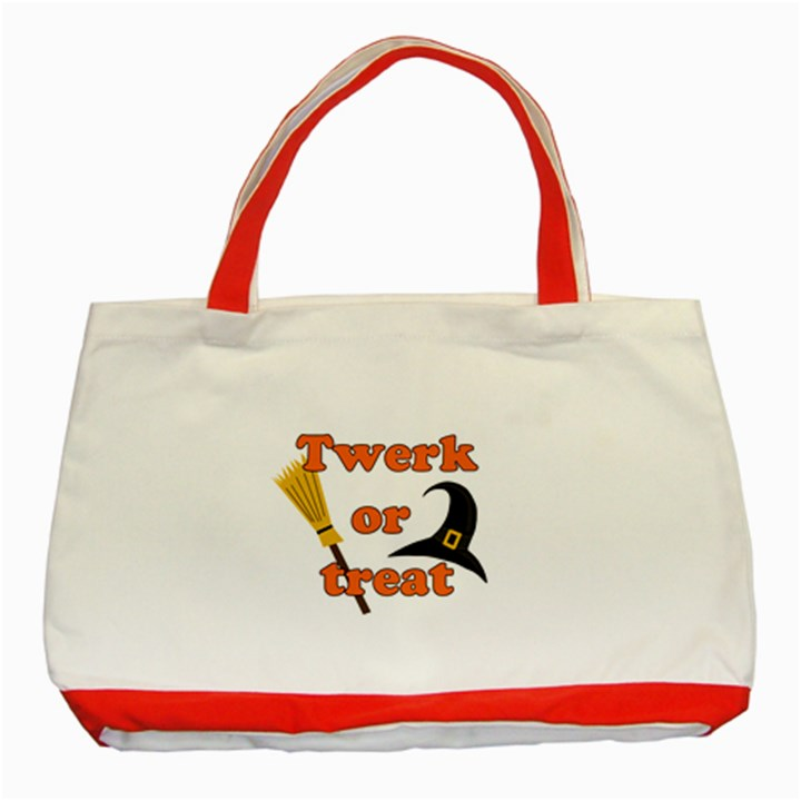 Twerk or treat - Funny Halloween design Classic Tote Bag (Red)