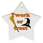 Twerk or treat - Funny Halloween design Star Ornament (Two Sides)