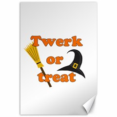 Twerk Or Treat   Funny Halloween Design Canvas 12  X 18