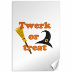 Twerk or treat - Funny Halloween design Canvas 12  x 18   18 x12 Canvas - 1