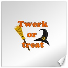 Twerk Or Treat   Funny Halloween Design Canvas 20  X 20   by Valentinaart