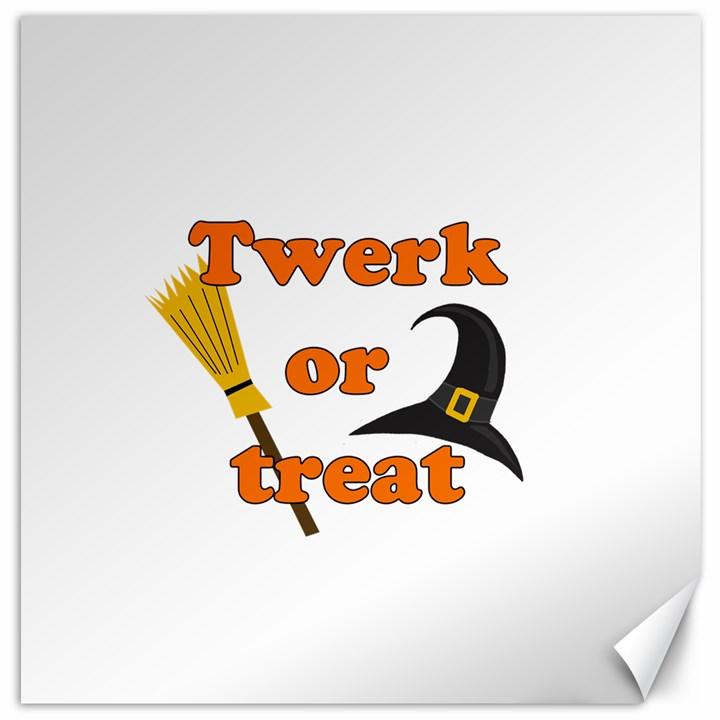 Twerk or treat - Funny Halloween design Canvas 20  x 20