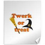 Twerk or treat - Funny Halloween design Canvas 20  x 24