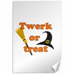 Twerk or treat - Funny Halloween design Canvas 24  x 36