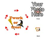 Twerk or treat - Funny Halloween design Playing Cards 54 (Round)  Front - Heart8