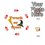 Twerk or treat - Funny Halloween design Playing Cards 54 (Round)  Front - Heart10