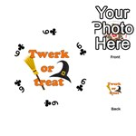 Twerk or treat - Funny Halloween design Playing Cards 54 (Round)  Front - Club6