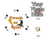Twerk or treat - Funny Halloween design Playing Cards 54 (Round)  Front - Club7