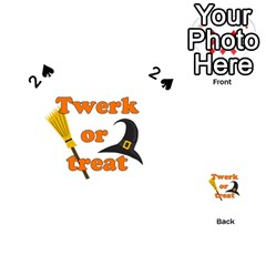 Twerk Or Treat   Funny Halloween Design Playing Cards 54 (heart)  by Valentinaart