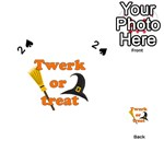 Twerk or treat - Funny Halloween design Playing Cards 54 (Heart)