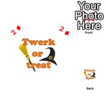 Twerk or treat - Funny Halloween design Playing Cards 54 (Heart)  Front - Diamond2