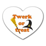 Twerk or treat - Funny Halloween design Heart Mousepads