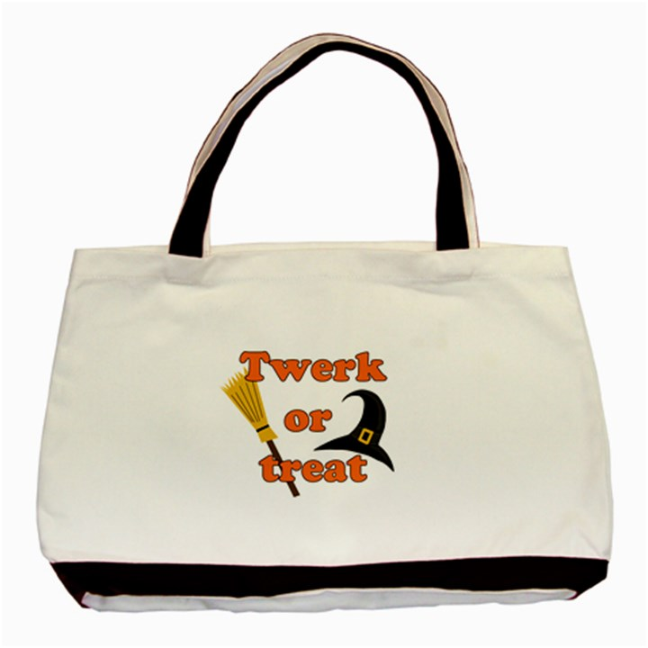 Twerk or treat - Funny Halloween design Basic Tote Bag (Two Sides)