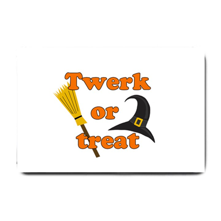 Twerk or treat - Funny Halloween design Small Doormat