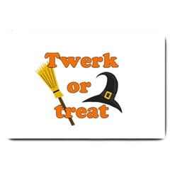 Twerk Or Treat   Funny Halloween Design Large Doormat