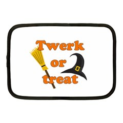 Twerk Or Treat   Funny Halloween Design Netbook Case (medium)  by Valentinaart