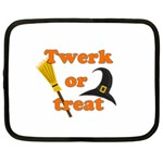 Twerk or treat - Funny Halloween design Netbook Case (Large)