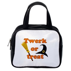 Twerk Or Treat   Funny Halloween Design Classic Handbags (one Side) by Valentinaart