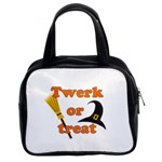 Twerk or treat - Funny Halloween design Classic Handbags (2 Sides)