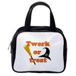 Twerk or treat - Funny Halloween design Classic Handbags (2 Sides) Back