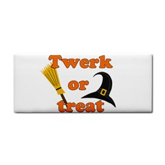 Twerk Or Treat   Funny Halloween Design Hand Towel by Valentinaart