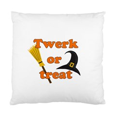 Twerk Or Treat   Funny Halloween Design Standard Cushion Case (one Side) by Valentinaart