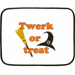 Twerk or treat - Funny Halloween design Double Sided Fleece Blanket (Mini)