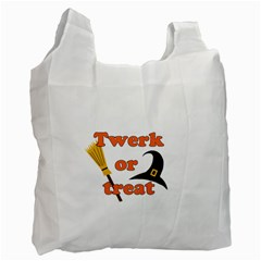 Twerk Or Treat   Funny Halloween Design Recycle Bag (one Side) by Valentinaart