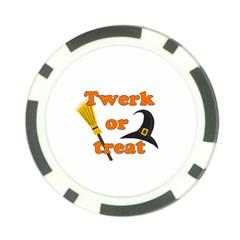 Twerk Or Treat   Funny Halloween Design Poker Chip Card Guards (10 Pack)