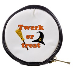 Twerk Or Treat   Funny Halloween Design Mini Makeup Bags by Valentinaart
