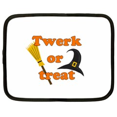 Twerk Or Treat   Funny Halloween Design Netbook Case (xl)  by Valentinaart